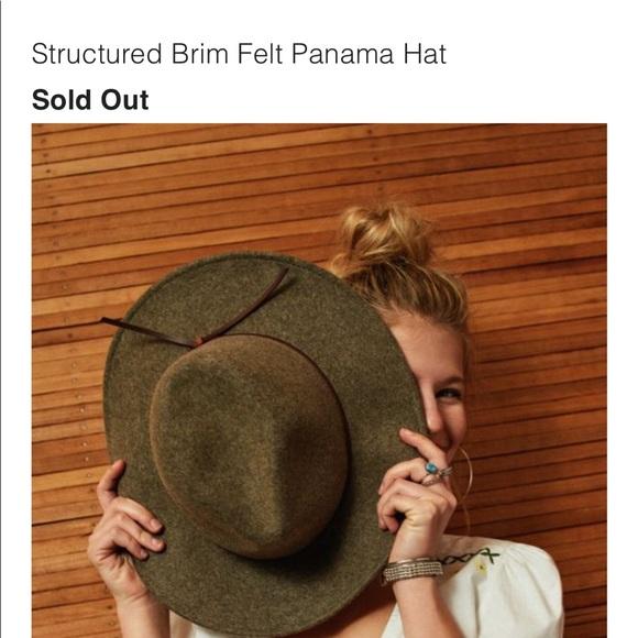 19873f3bf UO Panama Army green wool hat
